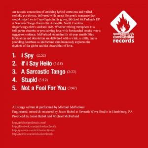 Michael McFarland - A Sarcastic Tango - Back Cover