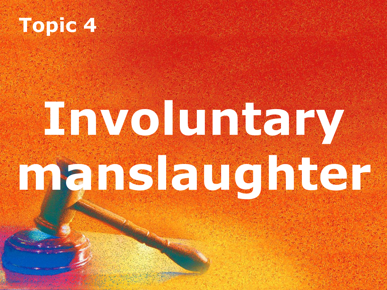 involuntary manslaughter problem question People at times have been confused with the difference between voluntary manslaughter and involuntary manslaughter but there is a substantial difference between the two that can help one to more thoroughly understand what the key difference is between the two.